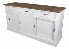 Sideboard Provence - 180 cm - weiß / natureiche