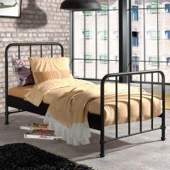 BRONXX BED MAT ZWART 90x200CM