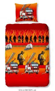 Bettbezug Brandschutz 140x220 - rot