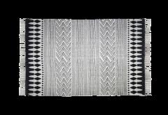 Teppich - Baumwolle - 180x70 cm - schwarz-weiß