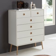 Dresser SOFT LINE 013 - Dresser with 2+4 drawers - WHITE