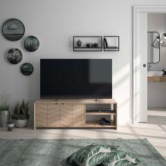 RANGEMENT JOUR - COUNTRY TV unit Blond oak