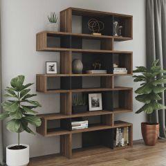 Bücherschrank Lissabon 3 - Nussbaum/schwarz