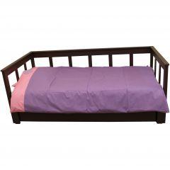 Bettbezug violett/rosa Herz