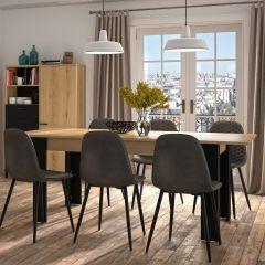 TRUST - Table 1 allonge 4 pieds Chêne Helvezia