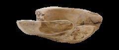 Obstschale groß - ø38-45 cm - natürlich - Teakholz