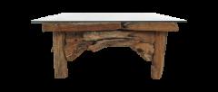 Couchtisch Root - 90x90 cm - natürlich - Teakholz
