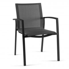 Lazio stacking chair alu charc mat text grey light