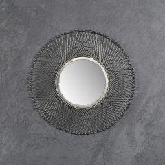 Spiegel Ø50 mesh - Antike Nickel