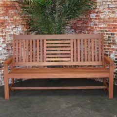 Sombrera 4-seater bench hardwood