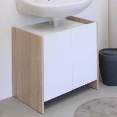 Biarritz Waschbeckenschrank - weiß/Eiche