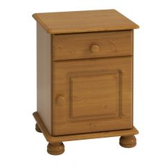 Nighstand RICHMOND 210 - Nightstand with 1 door and 1 drawer - STAINED LACQUER