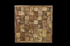 Wanddekoration - 80x80 cm - Teakholz