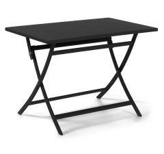 Grasse folding table 110 x 70 alu charcoal