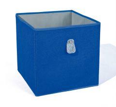 Regalkorb Widdy blau/grau