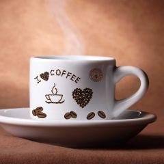Aufkleber Kaffee