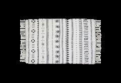 Teppich - Baumwolle - 90x60 cm - schwarz-weiß