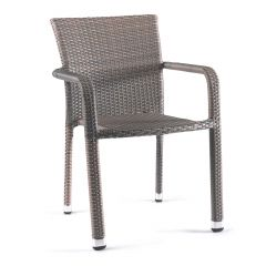 Bastia stacking chair wicker dolphin grey