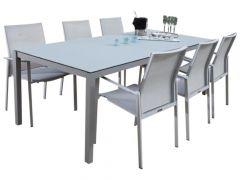 Gartentisch Albany 160x90 - silber/grau