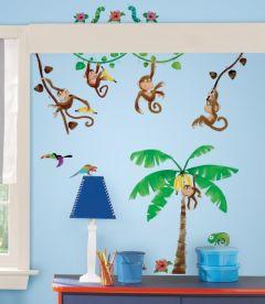 RoomMates Wandsticker - Affen im Dschungel
