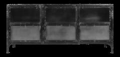 Sideboard Brooklyn - Eisen / Glas - Naturstahl