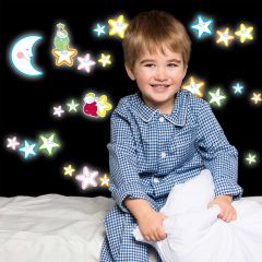 Wandsticker Smiling Stars Glow in the Dark