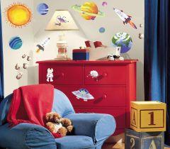 RoomMates Wandsticker - der Weltraum