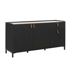 RANGEMENT JOUR - AMSTERDAM sideboard with 3 doors and 1 drawer Natural chestnut