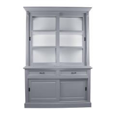 Buffetschrank Provence - 150 cm - grau / weiß