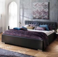 Gedempt bed Sandra Comfort - 160x200 cm - Zwart