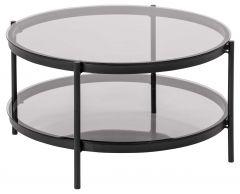 Bayonne coffee table - black, smoke
