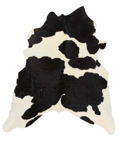 Leather Cow Hide Black/White