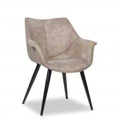 Set mit 2 Stühlen Mailand - grau