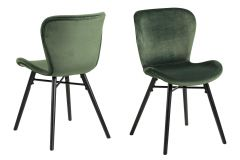 Batilda - A1 dining chair - forest green, black - set of 2