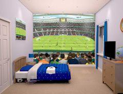 Wandbild Fußballstadion
