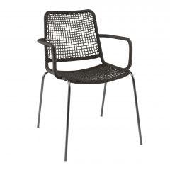Coppa stacking chair alu black/rope black