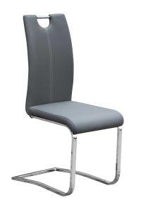 Set mit 4 Stühlen Sofia - grau