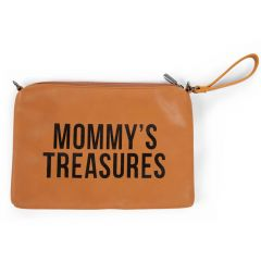 Mommy Clutch Leatherlook Braun