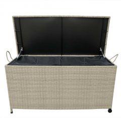 Wicker Cushion Storage box 122cm