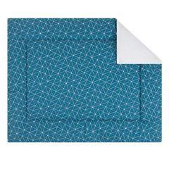 Boxtuch Grafik 80x100 - blau