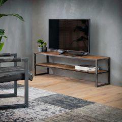 TV-möbel 150x35 grained - Robustes Hartholz