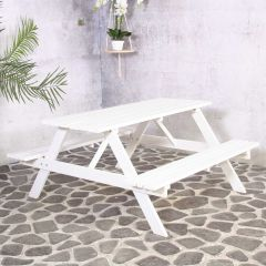 Remia Picknick Table White 150cm FSC 100%