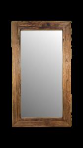 Wandspiegel Rustikal - 160x90 cm - Treibholz Teakholz