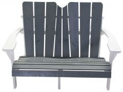 Montreal Bench Grey/ White