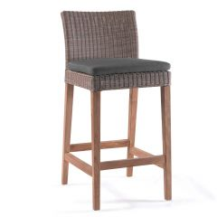 Cuba bar chair wicker / teak