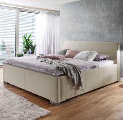 Gestoffeerd bed La Finca - 140x200 cm - beige