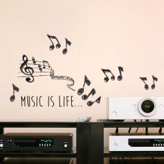 Wandaufkleber Musik