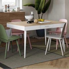Horizon Tisch 134x85 - Eiche/Weiß