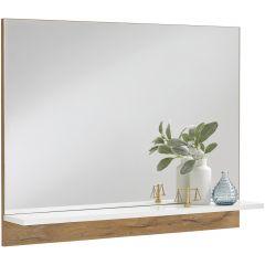 BRISTOL 400 - Garderobenspiegel mit Ablageboden - Alteiche Nb/high_gloss
