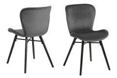 Batilda - A1 dining chair - dark grey, black - set of 2